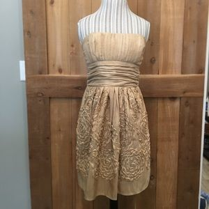 Alyn Paige Formal Dress In Champagne Gold Size 7/8